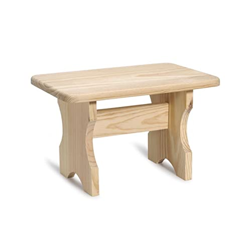 Wondrous Unfinished Wood Stool Amazon Com Ncnpc Chair Design For Home Ncnpcorg