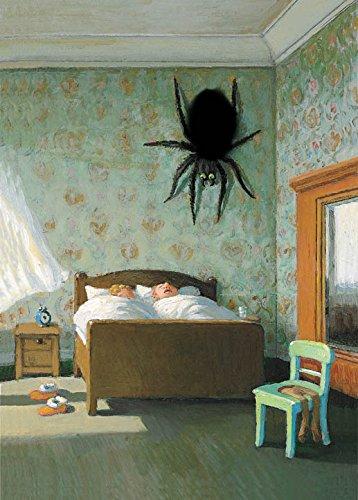 Plüschkarte / Plüschpostkarte A6 • 5357 ''Spinne am Morgen'' von Inkognito • Künstler: INKOGNITO © Michael Sowa • Plüschpostkarten • Tag für Tag