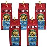 ライオンコーヒー 人気フレーバー5種類 7oz 198g×5 HAWAII LION COFFEE