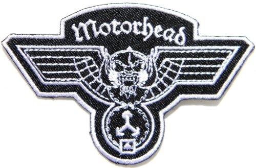 Motörhead Logo Heavy Metal, Hammerschlag-Band-Musikposter Punk Rock Jacke, T-shirt Patch Aufnäher Abzeichen Aufbügler bestickt Motiv Costum Größe 8.89 cm Breite x 6.35 cm Höhe