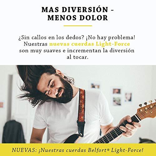 BELFORT® Juego de cuerdas guitarra electrica - Cuerdas de guitarra electrica - BONUS: 4 púas + Escuela de Guitarra (ebook)