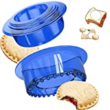 Sandwich Cutters Sealers Set Uncrustables Sandwich Cookie Bread Pancake Maker Perfect for Kids Lunchbox and Bento Box (BLUE) …
