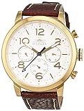 Tommy Hilfiger 1791231 - Reloj análogico de cuarzo con correa de cuero para hombre, color blanco/marrón