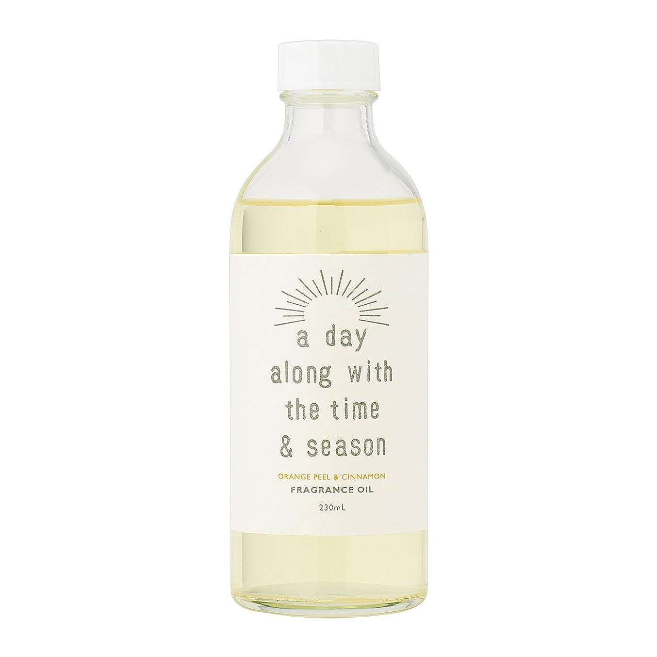 アルファベット化学忌まわしいアデイ(a day) リードディフューザー リフィル オレンジピール&シナモン 230ml(芳香剤 詰め替え用 甘酸っぱくて爽やかなオレンジピールにシナモンがふわりと広がる香り)
