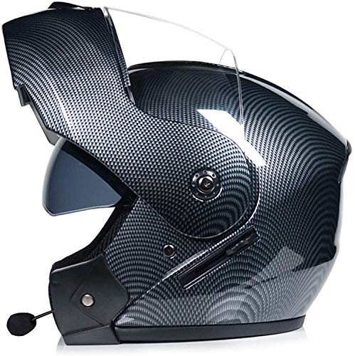 Casco Bluetooth Modular Para Moto, Cascos Flip Up Motocicleta, ECER 22-05 Aprobado Doble Visera Anti Niebla HD Reducción De Ruidohelmet 4,L