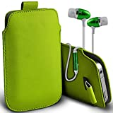 ( Green + Ear phone ) Pouch Case for Acer Liquid Jade Primo