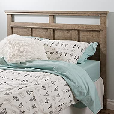 South Shore Versa Headboard, Full/Queen 54/60-Inch, Weathered Oak