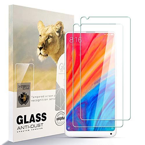 Asoway Pellicola Salvaschermo per Xiaomi Mi Mix 2S [Confezione da 2] Pellicola in Vetro Temperato HD Anti-Impronta Senza Bolle Facile da Installare, Xiaomi Mi Mix 2SProtezione in Vetro con Durezza 9H