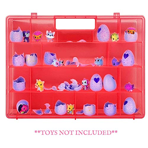 Life Made Better My Egg Crate Storage Organizer Compatible The Hatchimals Hatchimal Colleggtibles Brands - Durable Carrying Case Mini Eggs, Easter Eggs & Speckled Eggs  Pink