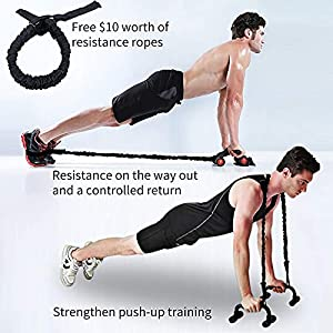 ESPIJO Ab Roller for Abs Workout, 10-in-1 Ab Wheel with Resistance Bands, Knee Mat, Push-Up Bar, Jump Rope, Carry Bag & Weights - Exercise Roller Wheels Perfect Home Gym Fitness Equipment for Men & Women