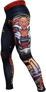 Compression Pants Men's Tiger - Spats for Men - No-Gi BJJ MMA Fitness Crossfit Workout Gym