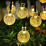 Topeedy Luces de cadena 6 M con 40 bombillas LED,Luces decorativas con pilas a prueba de agua para el dormitorio, al aire libre, boda, decoración de la fiesta de...