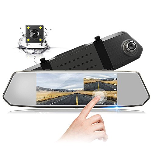 TOGUARD Backup Camera 7″ Mirror Dash Cam