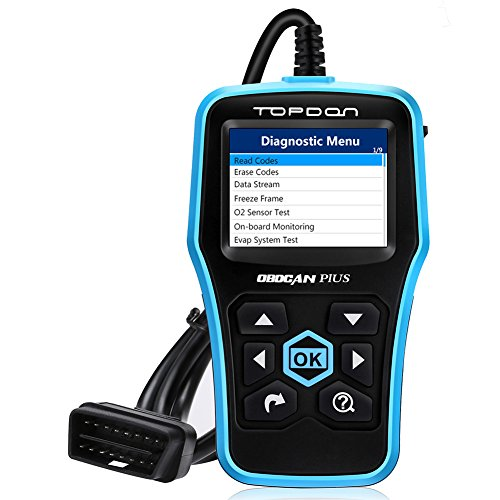 TT TOPDON OBD2 Scanner Code Reader AL500 with Full OBD2 Functions Read Codes, Clear Codes, Turn Off Check Engine Light, Pass Smog Check - for DIYers