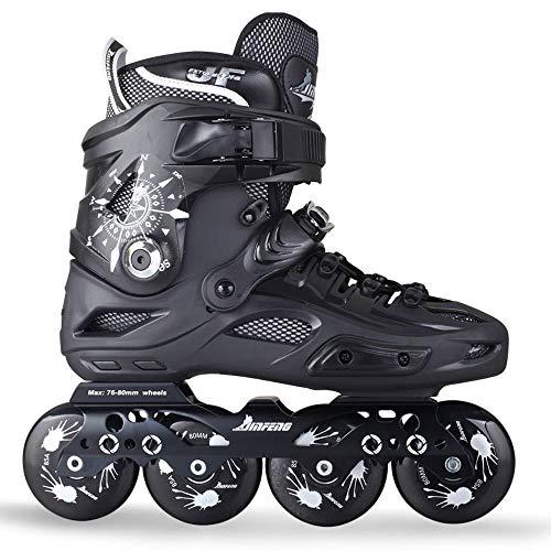 Skates Trolley Patines Rodillo de los Hombres de Las Cuchillas Inline Roller Mayores cómodo for los Deportes del Hombre Adultos al Aire Libre de Fitness LQHZWYC (Color : Black, Size : 43)