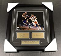 Kobe Bryant Lakers Allen Iverson LASER ENGRAVED AUTOGRAPH Framed 8x10 Photo