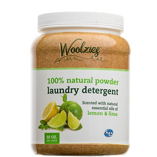 Woolzie 100% Natural Laundry Detergent Scented with Lemon & Lime, Super Concetrated, 100 Loads
