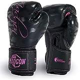 MADGON Guantes de Boxeo para Mujeres Hechos del Mejor Material para Una Larga Durabilidad – Guantes de Kick Boxing, Guantes MMA y Sparring – Óptima Absorción de Impactos – Incluye Bolsa