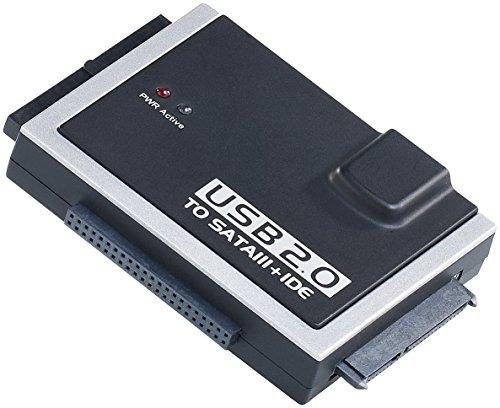 Xystec Festplatten auslesen: Universal-Festplatten-Adapter IDE/SATA auf USB 2.0, für HDDs & SSDs (Festplattenleser)