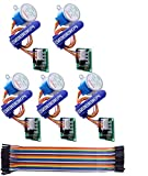 GeeekPi 5 Pack Geared Stepper Motor 28BYJ-48 5V Stepper Motor + Uln2003 Motor Driver Board + Dupont Wire Jumper Wires Ribbon Cables Compatible with Arduino
