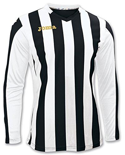 Joma 100002.100 - Camiseta de equipación de Manga Larga para Mujer, Color Negro/Blanco, Talla 6XS-5XS