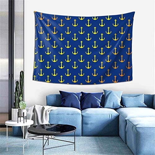 Navy Anchor (2) Tapestry Wall Art Hanging for Living Room Dorm Bedroom Party Home Decor 60 X 152in