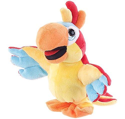 Playtastic Spielzeug: Sprechender Plüsch-Papagei mit Mikrofon, spricht nach und läuft, 22 cm (Plüschtiere die nachsprechen)