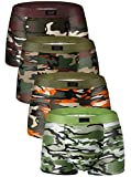 YOULEHE Men's Underwear Soft Bamboo Boxer Briefs Stretch Trunks Pack (Medium, Camouflage)