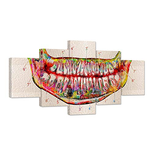 iHAPPYWALL Large Tooth Canvas