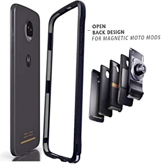 Moto Z2 Force Case,Dngn Bumper Frame Cover Compatible Moto Mods Aluminum Metal Slim Fit for Motorola Moto Z2 Force (Moto Z2 Force Bumper)