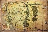 1art1 62844 Der Hobbit Poster - Landkarte Von Mittelerde,