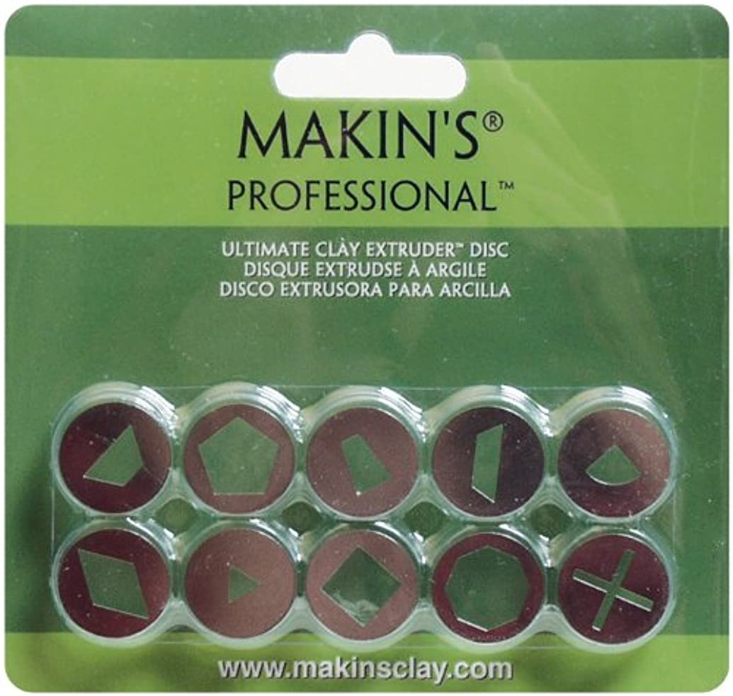 Makin's USA Professional Ultimate Clay Extruder Discs, Set A, 10 Per Package