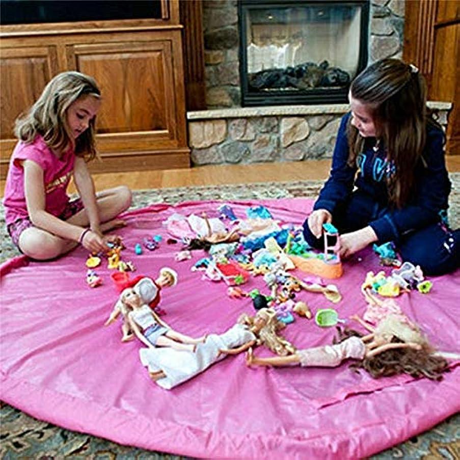 Yichener Children Play Mat Rug Carpet Bath Toy Storage Bag Box Organizer Basket Large Capacity Blanket Boxs Playing Toys