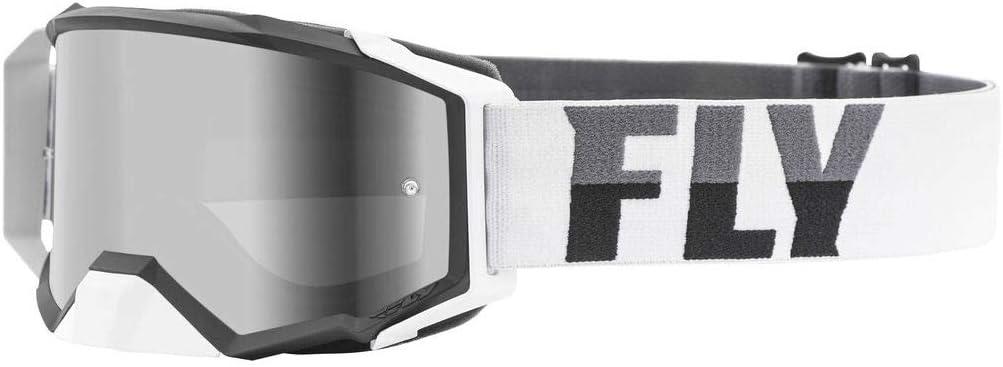 Fly Racing 2021 Zone Pro Goggles Dark Smoke Sale price White Outstanding Black Lens