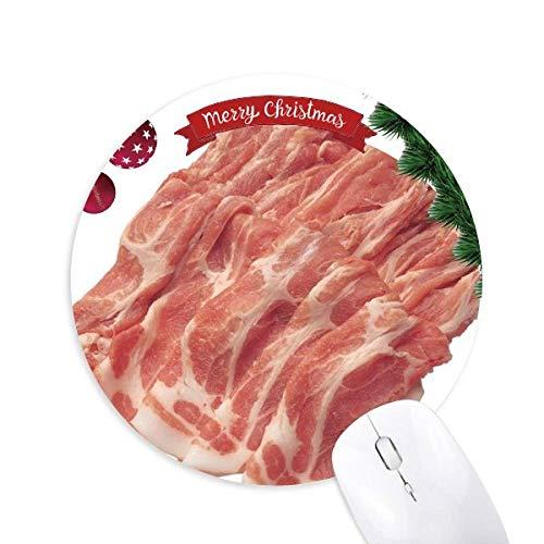 Steak Roll Rohfleisch Lebensmittel Textur Rund Gummi Maus Pad Weihnachtsbaum Mat