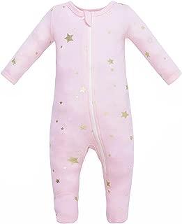 Organic Cotton Baby Boy Girl Zip Front Sleep 'N Play, Footed Sleeper, Long Sleeve