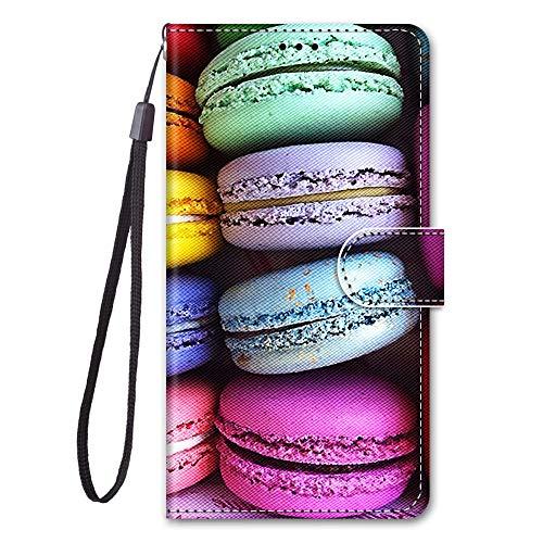 Nodigo für Xiaomi Redmi Note 10 Pro/Note 10 Pro Max Leder Hülle Magnetisch mit Kartenfach 360 Grad Tier Muster Motiv Lustig Design Silikon Hüllen Handyhülle Wallet Tasche Hülle Mädchen Damen - Macaron