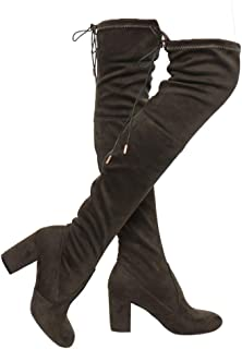 ShoBeautiful Women's Thigh High Boots Stretchy Over The...