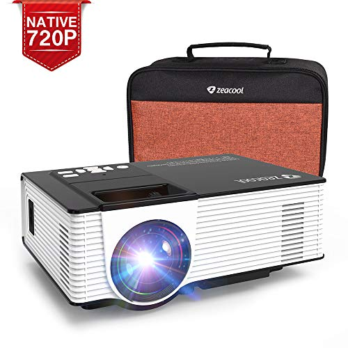 Zeacool Mini HD Video Projector with Carrying Case, Native 720P with 170