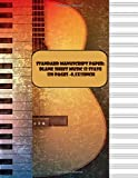 Standard Manuscript Paper: blank sheet music 13 stave 120 pages -8.5x11inch: White Marble Blank Sheet Music / Notebook for Musicians / Staff Paper / ... * 12 Stave * 120 pages * manuscript paper