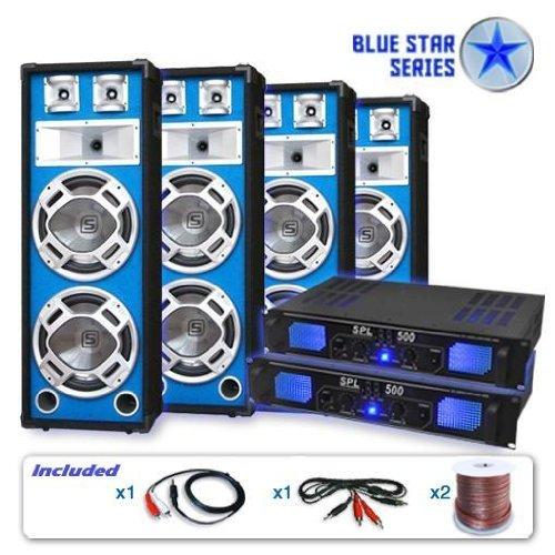 Skytec Blue Star - Juego de amplificadores PA , Bassveteran