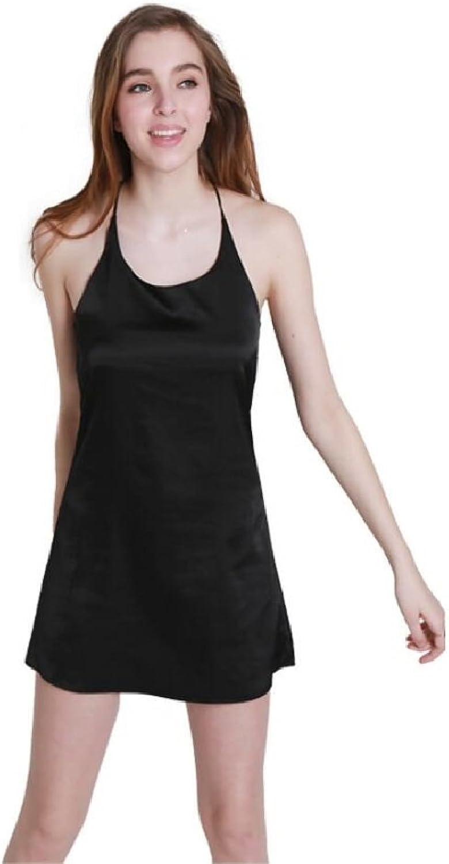 Sexy Pajamas,Ice Silk Nightgown,Summer Silk Halter Women's Nightwear