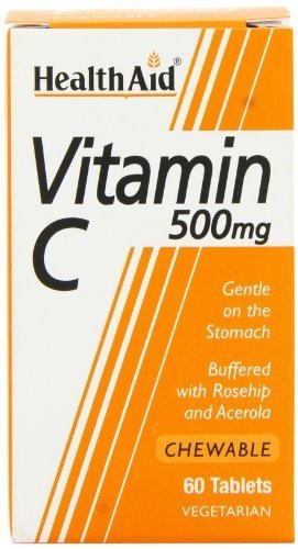HealthAid Vitamin C 500mg - Chewable - 60 Tablets by HealthAid
