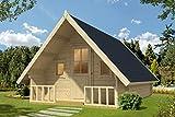 Alpholz Gartenhaus Campinghouse 44 aus Massiv-Holz | Gerätehaus mit 44 mm Wandstärke | Garten Holzhaus inklusive Montagematerial | Geräteschuppen Größe: 328,8 x 508,8 cm | Satteldach