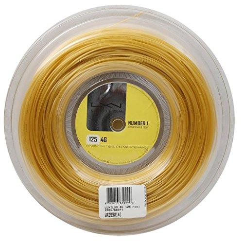 Luxilon WRZ990141 Corda da Tennis 4G, Bobina 200 m, Unisex, Colore Oro, 1.25 mm