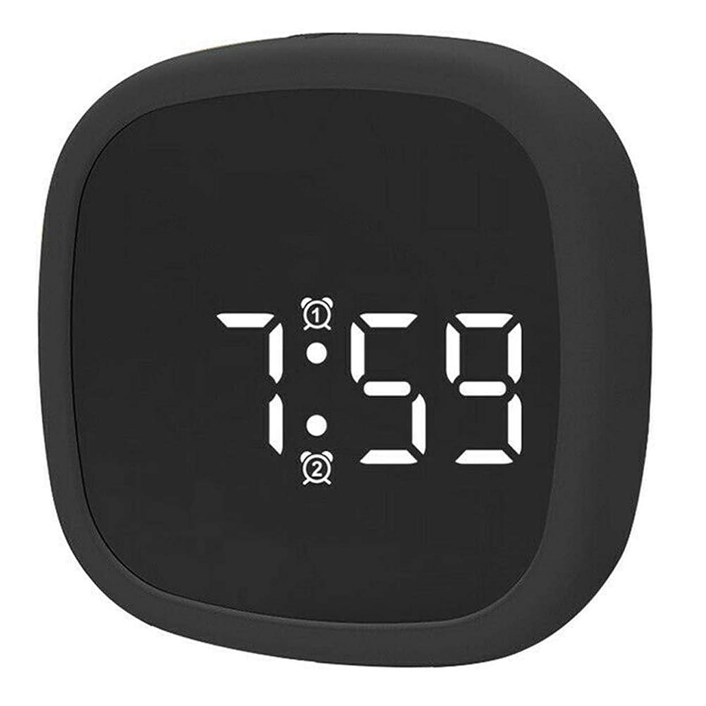 出席単調なルーフTenflyerデジタル目覚まし時計LEDディスプレイシリコーン音声起動デスククロック4つの明るさモード