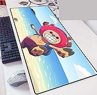 ワンピース大型ゲーミングマウスパッド ワンピースインチ XL 拡張マット デスクパッド ゴム製 One Piece マウスパッド Luffyデスク&マウスパッドワンピーステーブル-800*300*3mm-B_800*300*3MM