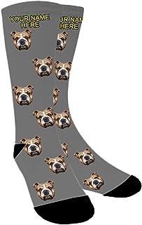 Calcetines Personalizados Foto,Personalizable Calcetines,Ponga la Foto de la Cara del Perro, el Gato y Otras Mascotas en Calcetines