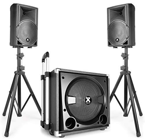"Vonyx VX840BT 2.1 Aktiv-Lautsprecherset 15"" Subwoofer 2x8 Lautsprecher 900W max Bluetooth USB SD max"