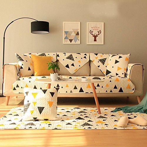 Kid Love Funda de sofá de tela de algodón para cuatro estaciones, simple, moderna, para sofá o sala de estar, 1 unidad, B, 70x150cm(28x59inch)